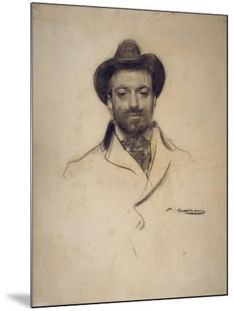 Portrait of Josep Maria Sert (1874-194)-Ramon Casas-Mounted Giclee Print