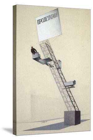 Lenin Tribune-El Lissitzky-Stretched Canvas Print