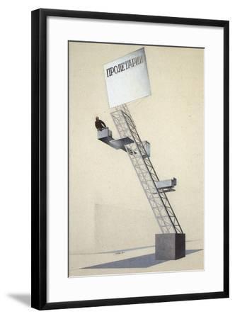Lenin Tribune-El Lissitzky-Framed Giclee Print