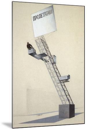 Lenin Tribune-El Lissitzky-Mounted Giclee Print