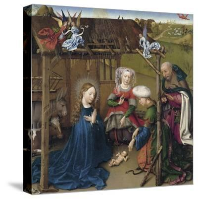 The Nativity-Jacques Daret-Stretched Canvas Print