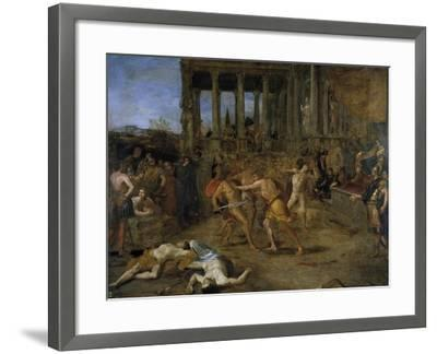 Gladiator Fights-Giovanni Lanfranco-Framed Giclee Print