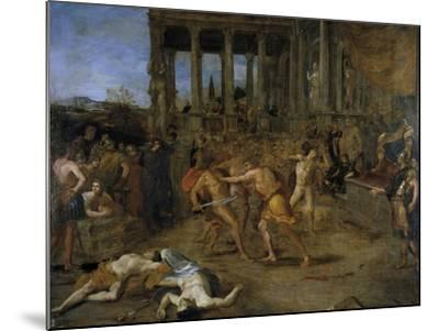 Gladiator Fights-Giovanni Lanfranco-Mounted Giclee Print