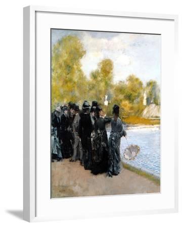 The Pool in the Jardin Du Luxembourg-Giuseppe De Nittis-Framed Giclee Print