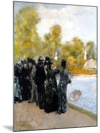 The Pool in the Jardin Du Luxembourg-Giuseppe De Nittis-Mounted Giclee Print