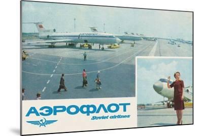 Aeroflot--Mounted Giclee Print