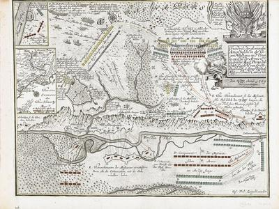 Map of the Battle of Poltava on 27 June 1709-Joseph Friedrich Leopold-Framed Giclee Print