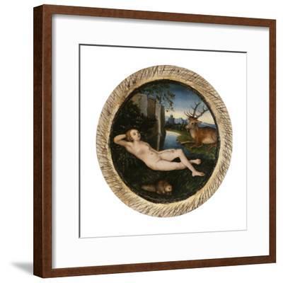 The Nymph of the Spring-Lucas Cranach the Elder-Framed Giclee Print