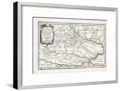 Map Showing Both Poltava and Bender-Gabriel Bodenehr the Elder-Framed Giclee Print