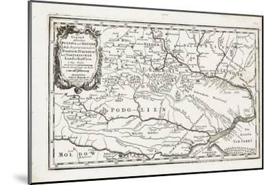 Map Showing Both Poltava and Bender-Gabriel Bodenehr the Elder-Mounted Giclee Print