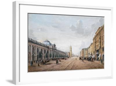 View of the Nevsky Prospekt in Saint Petersburg--Framed Giclee Print