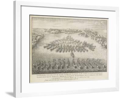 The Naval Battle of Gangut on July 27, 1714-Nicolas de Larmessin-Framed Giclee Print