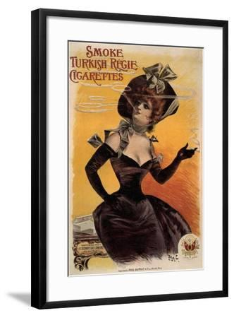 Smoke Turkish Regie Cigarettes, 1895-Jean de Paléologue-Framed Giclee Print