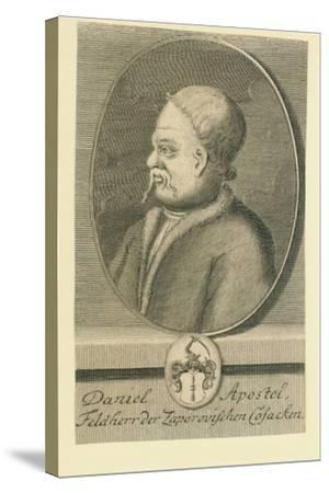 Hetman Danylo Apostol (1654-173)-Martin Bernigeroth-Stretched Canvas Print