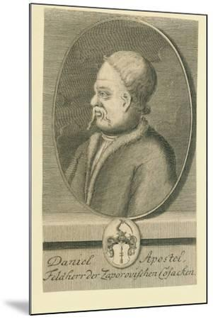Hetman Danylo Apostol (1654-173)-Martin Bernigeroth-Mounted Giclee Print