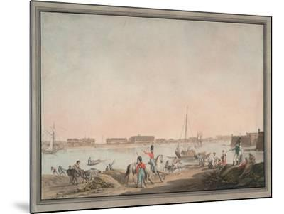 View of St. Petersburg from the Neva, 1808-Christian Gottlieb Hammer-Mounted Giclee Print