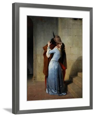The Kiss-Francesco Hayez-Framed Giclee Print