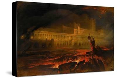 Pandemonium-John Martin-Stretched Canvas Print