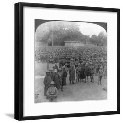 The Rawalpindi Manoeuvres Military Review, India, 1906-Underwood & Underwood-Framed Giclee Print