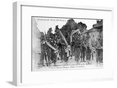 French Foreign Legion Honor the Brave, Algeria, 1910--Framed Giclee Print