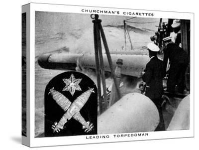 Leading Torpedoman, 1937- WA & AC Churchman-Stretched Canvas Print