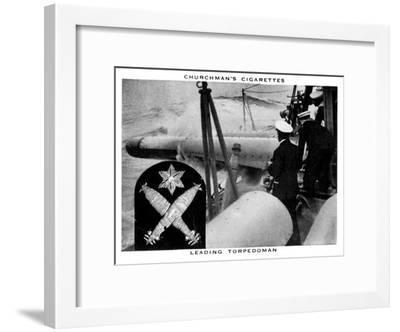 Leading Torpedoman, 1937- WA & AC Churchman-Framed Giclee Print