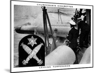 Leading Torpedoman, 1937- WA & AC Churchman-Mounted Giclee Print