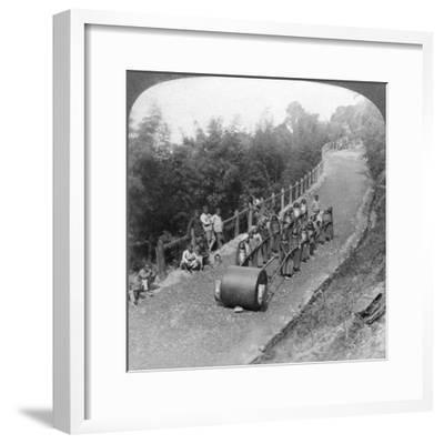 A Woman Work Team on the Darjeeling Highway, India, 1903-Underwood & Underwood-Framed Giclee Print