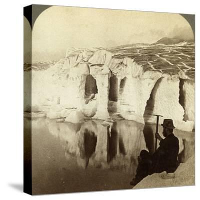 Aletsch Glacier and Marjelen Lake, Switzerland-Underwood & Underwood-Stretched Canvas Print