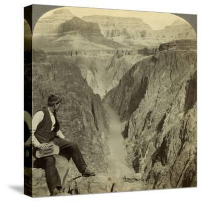 Colorado River, Grand Canyon, Arizona, USA-Underwood & Underwood-Stretched Canvas Print