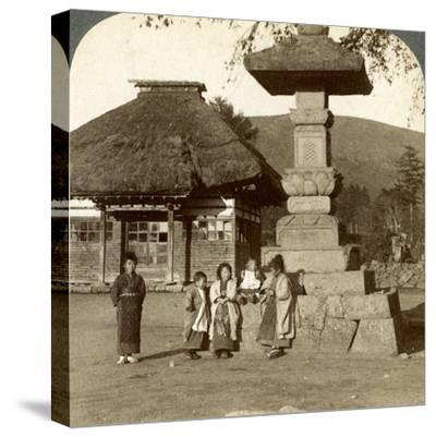 Children in the Playground of a Village School, Japan, 1904-Underwood & Underwood-Stretched Canvas Print