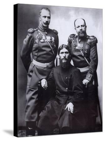 Grigori Rasputin, General Count Mikhail Putyatin and Colonel Dmitriy Lotman, 1904-1905-Karl Karlovich Bulla-Stretched Canvas Print