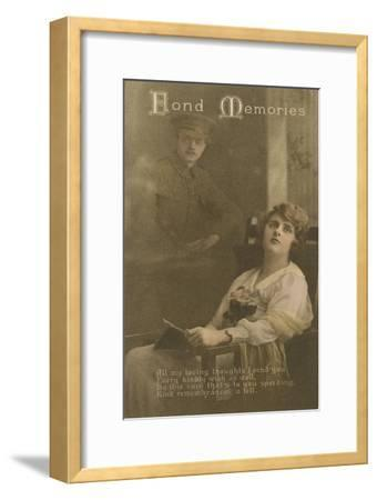 Fond Memories, Romantic Postcard Sent from a Soldier to His Sweetheart--Framed Giclee Print