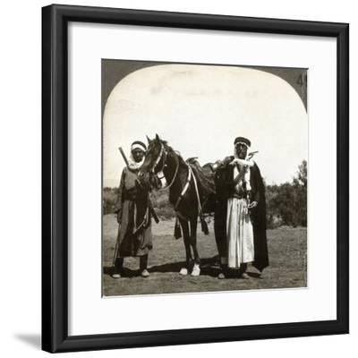 A Sheikh and His Bodyguard, Syria, 1900s--Framed Giclee Print