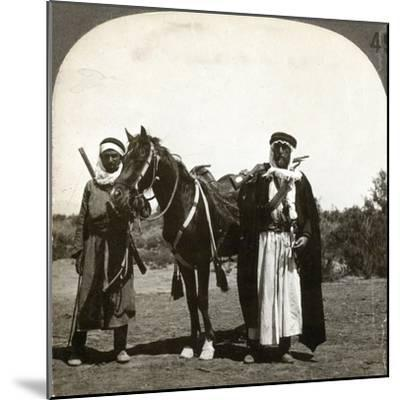 A Sheikh and His Bodyguard, Syria, 1900s--Mounted Giclee Print