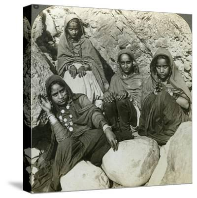 Native 'Bhujji' Girls, River Sutlej, Himalayas, India, C1900s-Underwood & Underwood-Stretched Canvas Print