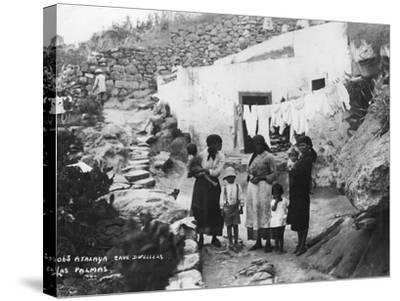 Cave Dwellers, Atalaya, Las Palmas, Gran Canaria, Canary Islands, Spain, C1920S-C1930S--Stretched Canvas Print