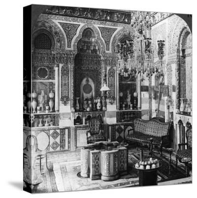 The Reception Room of a Pasha, Damascus, Syria, 1905-Underwood & Underwood-Stretched Canvas Print