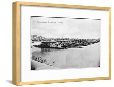 Howrah Bridge over the Hooghly River, Calcutta, India, Early 20th Century--Framed Giclee Print