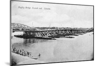 Howrah Bridge over the Hooghly River, Calcutta, India, Early 20th Century--Mounted Giclee Print