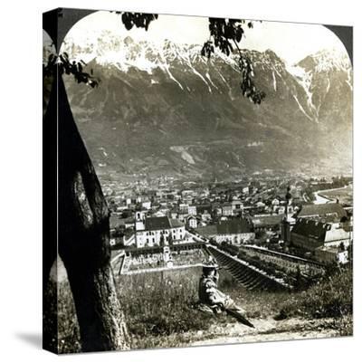 Innsbruck and the Bavarian Alps, Tyrol, Austria-Underwood & Underwood-Stretched Canvas Print