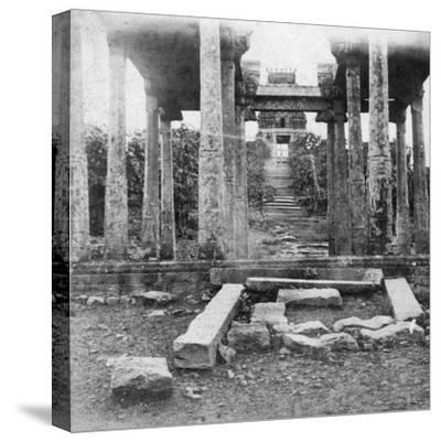 A Ruined Temple Near Madras, India, 1874--Stretched Canvas Print