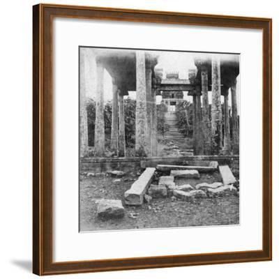 A Ruined Temple Near Madras, India, 1874--Framed Giclee Print