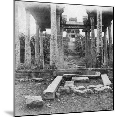 A Ruined Temple Near Madras, India, 1874--Mounted Giclee Print