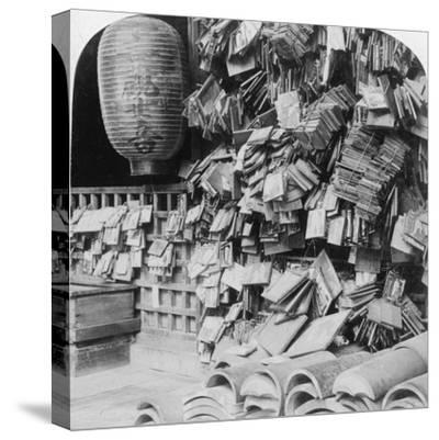 A Bundle of Buddhist Prayers, China, 1896-Underwood & Underwood-Stretched Canvas Print