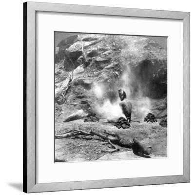 A Hermit Doing Penence at Gem Lake, Mount Abu, India, 1903-Underwood & Underwood-Framed Giclee Print