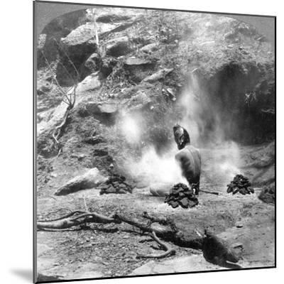 A Hermit Doing Penence at Gem Lake, Mount Abu, India, 1903-Underwood & Underwood-Mounted Giclee Print