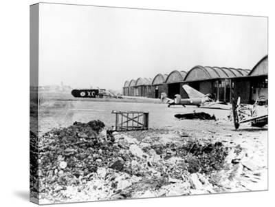 Destroyed Aircraft at Le Bourget Airfield, German-Occupied Paris, July 1940--Stretched Canvas Print