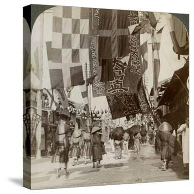 Dotombori, or Theatre Street, Osaka, Japan, 1904-Underwood & Underwood-Stretched Canvas Print