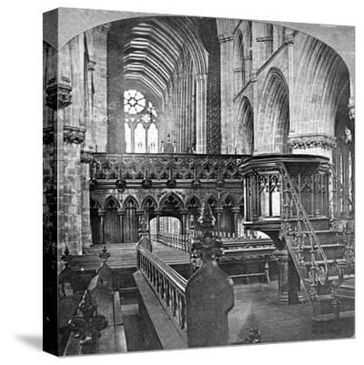 Interior of Glasgow Cathedral, Scotland, Late 19th Century-Underwood & Underwood-Stretched Canvas Print